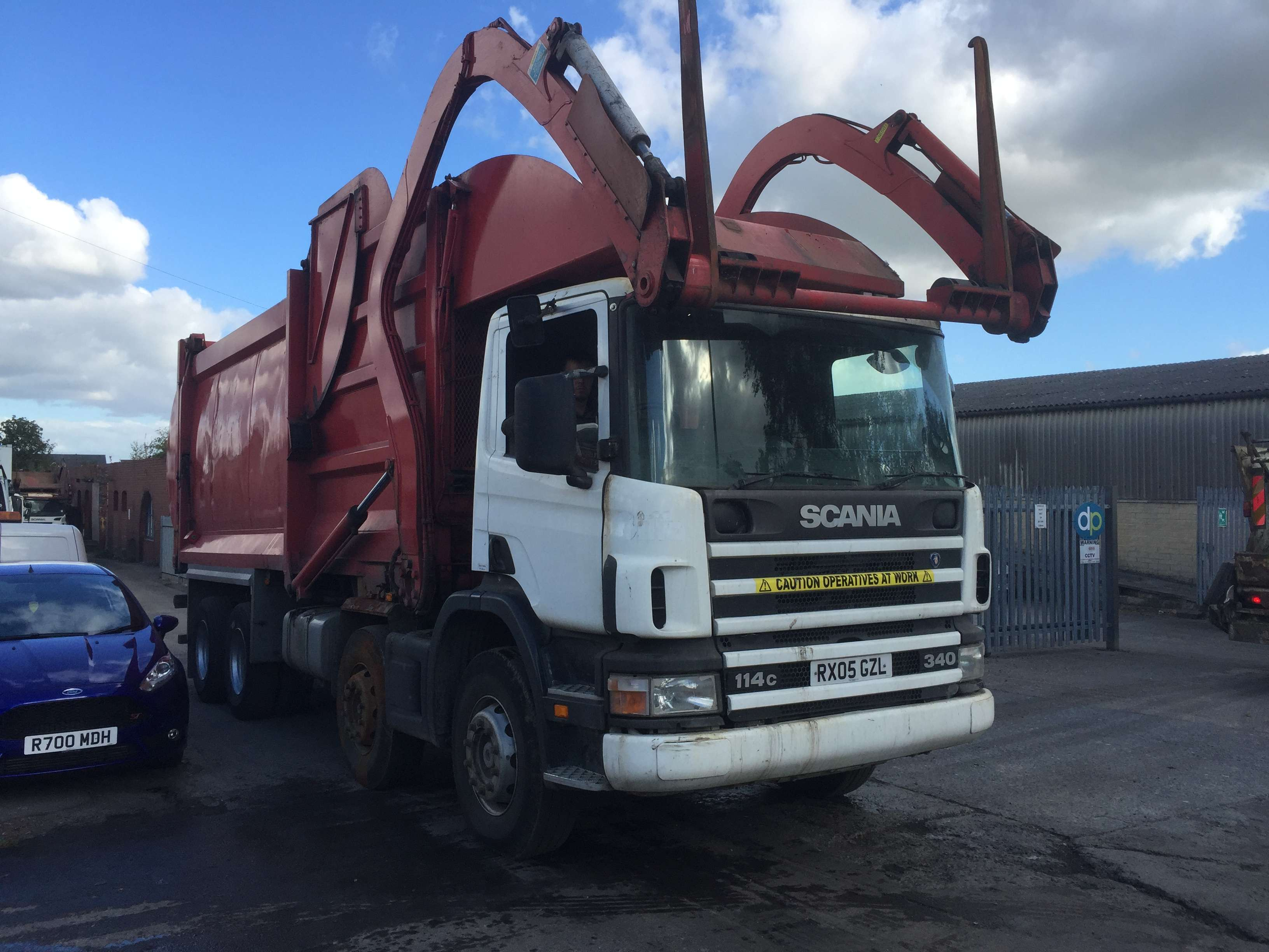 2005 Scania 114C 340 8x4 front end loader for sale 1