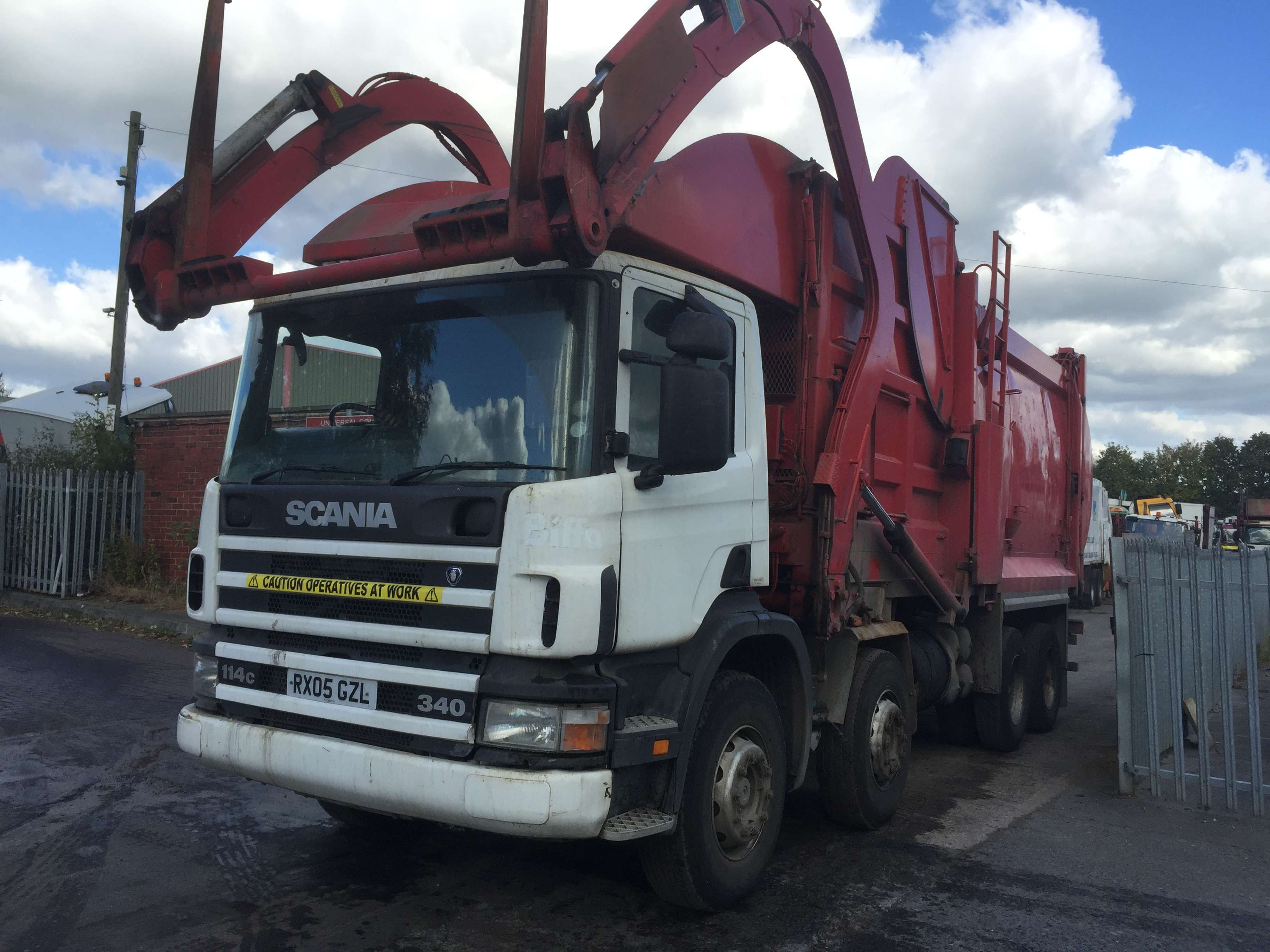 2005 Scania 114C 340 8x4 front end loader for sale 2