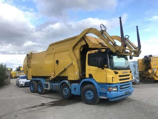 2007 Scania P340 8x4 front end loader for sale 3