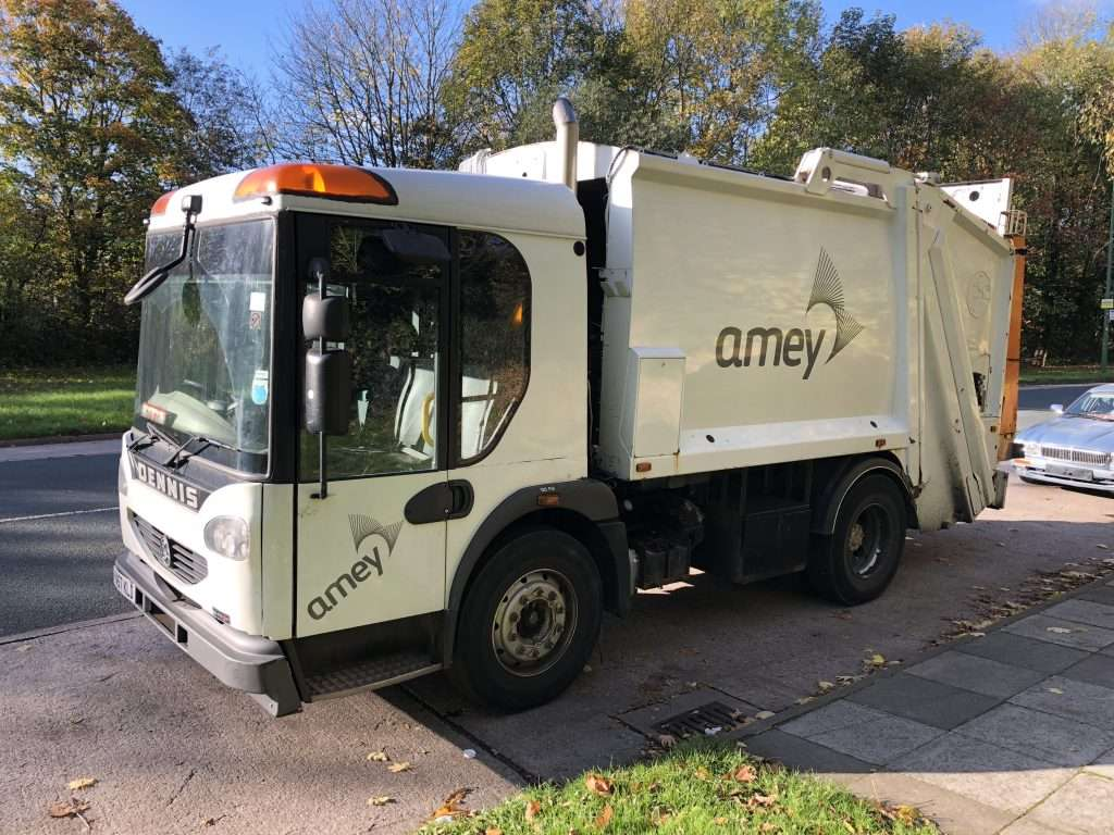 2008 Dennis 4x2 narrow track refuse collection truck for sale 3