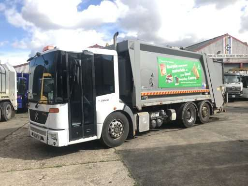 2010 Mercedes Econic 2629 6x2 rear steer bin lorry for sale, Farid body, Terberg Omnidel Binlift 1