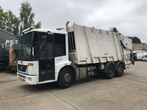 2009 Mercedes Econic 2629 6x2 rear steer bin lorry for sale, Faun Variopress body, Terberg Omnidel Binlift 2