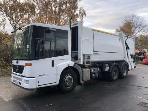 2013 Mercedes Econic 6x4 refuse collection vehicle for sale, Faun Variopress body, Terberg binlift 5