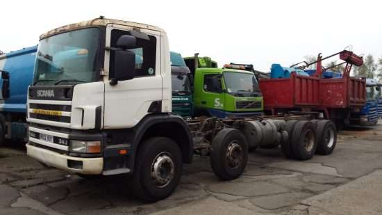 2002 Scania 114C 340 8x4 chassis cab truck for sale