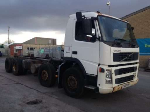 2003 Volvo FM12 340 chassis cab, 8x4, automatic, day cab