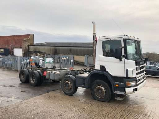 2004 Scania 114C 340 8x4 chassis cab truck for sale