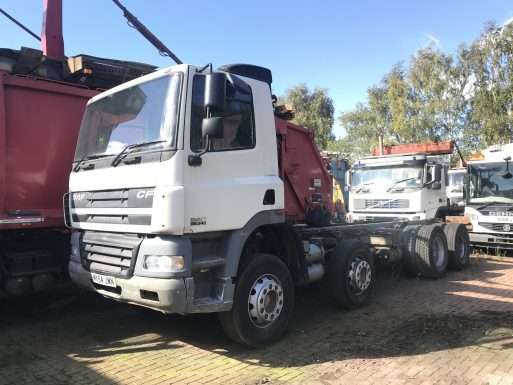 2005 DAF CF85.340 8x4 chassis cab truck for sale