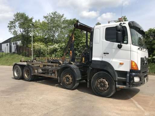 2008 Hino 8x4 hookloader truck for sale