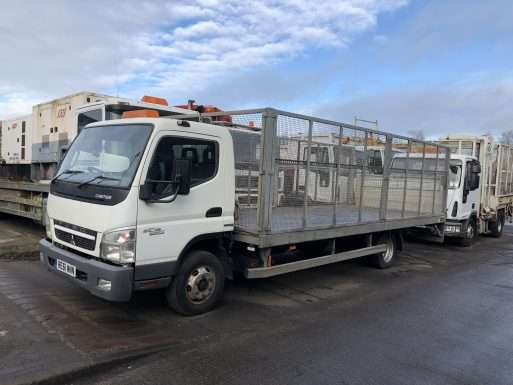 2011 Mitsubishi Canter cage body flat bed 1