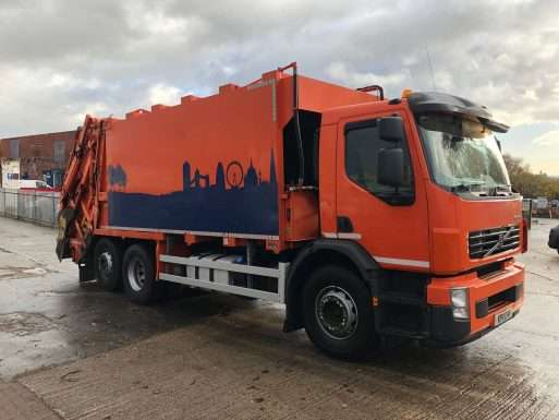 2011 Volvo FE 260 6x2 rel for sale, Incomol body, Trade binlift and skip arms