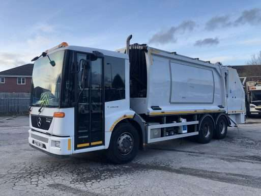 2013 Mercedes Econic 6x4 municipal truck for sale, Geesink-Norba body, Trade binlift