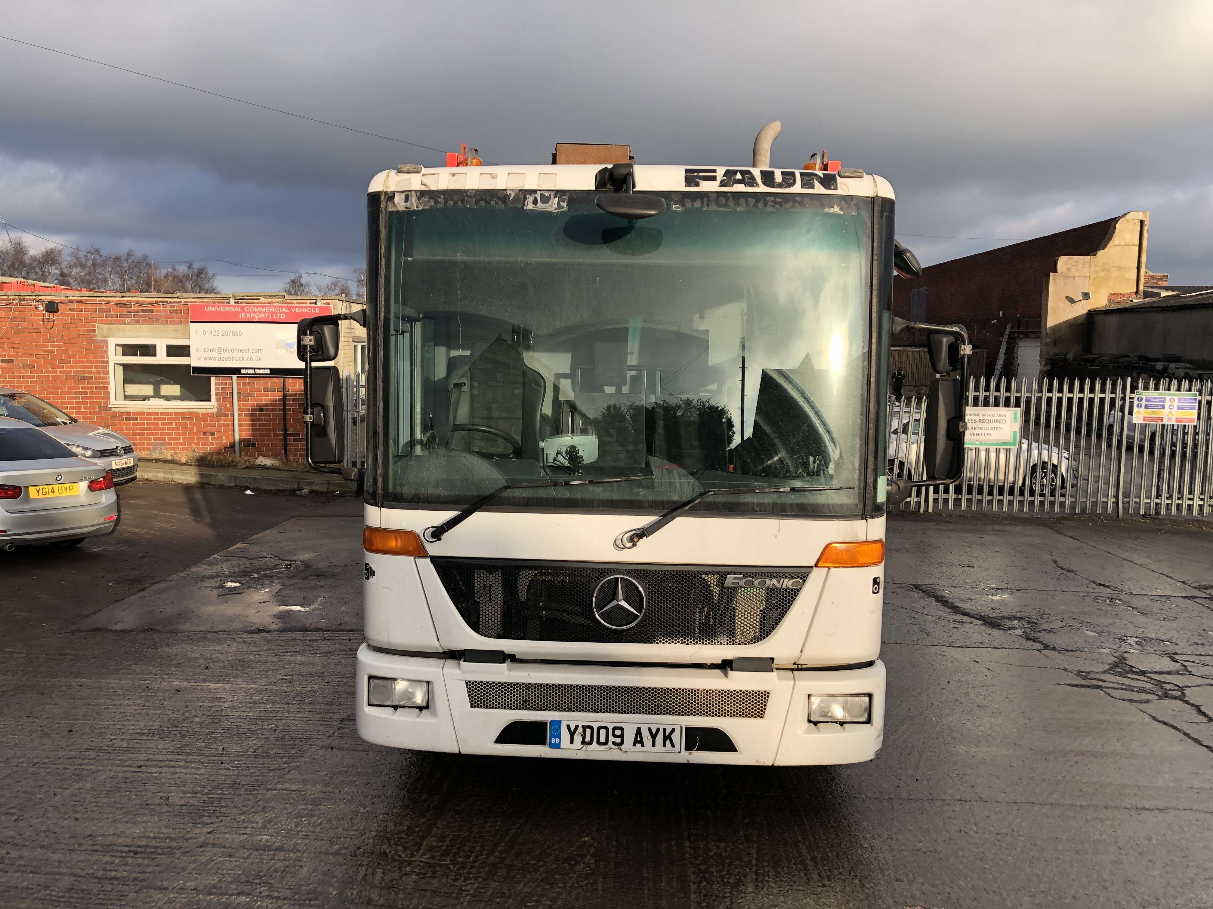 2009 Mercedes Econic 2629 6x2 dustcart for sale, Faun variopress body, Terberg binlift 9