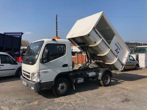 2011 Mitsubishi Fuso 3C13 3.5 Tonne food waste truck for sale 11