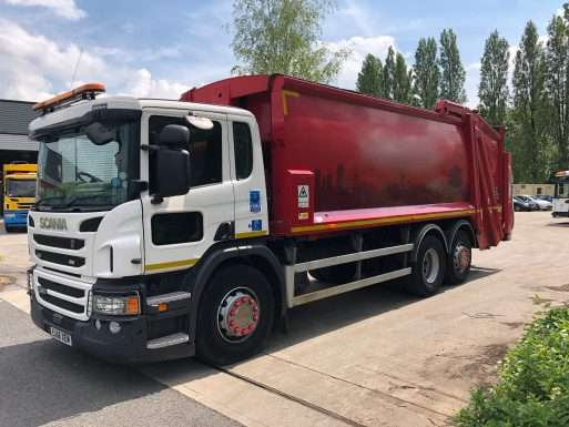2016 Scania P320 6x2 rear steer refuse truck for sale
