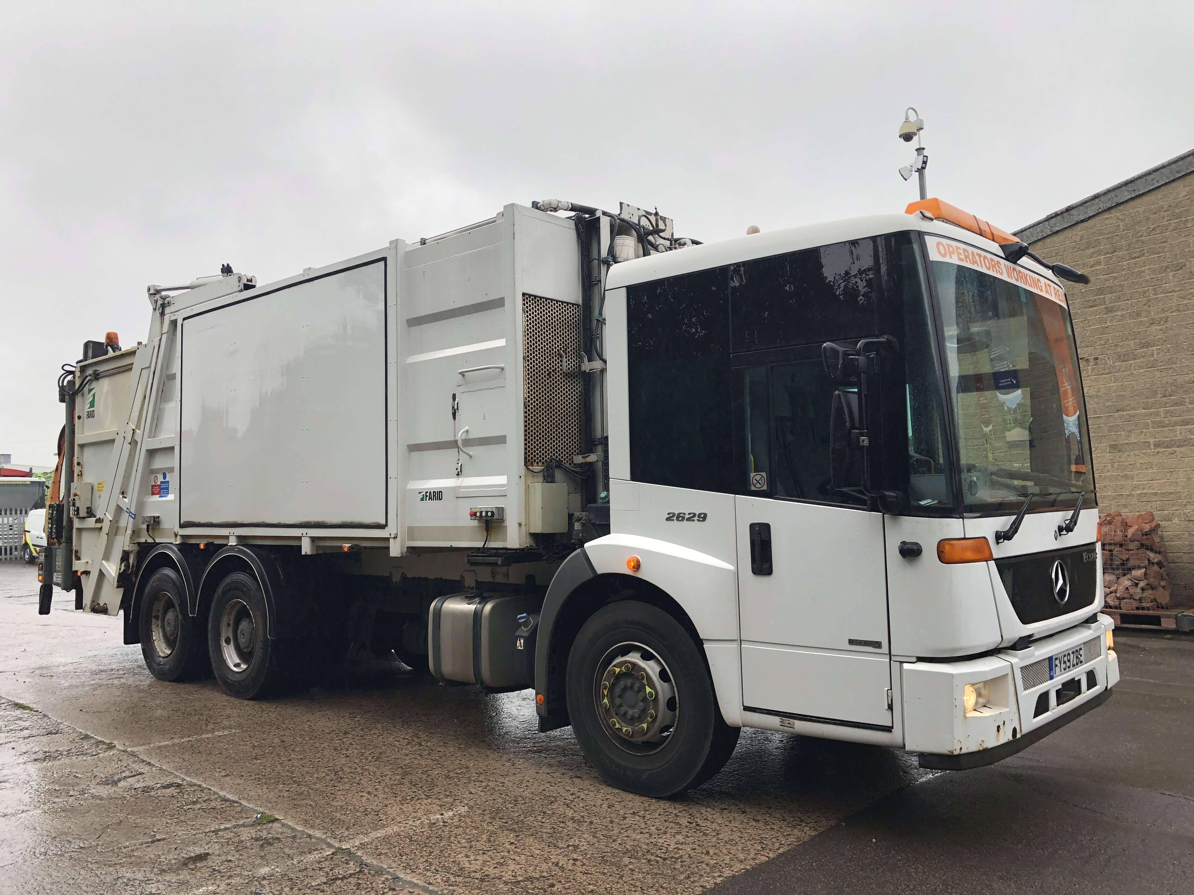 Mercedes Econic 70/30 split body twinpack refuse truck for sale 5